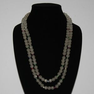 Beautiful vintage necklace with clear beads